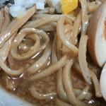666 - 全粒粉入りの中太ウェーブ麺