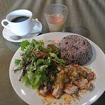 Villabli Garden - 十五穀米と蒸し鶏の葱ソースがけ