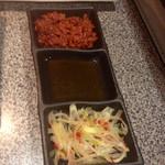 27162070 - サムギョプサル用  肉味噌 胡麻油 辛葱