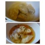 27162099 - ◆「水餃子」と「海老ワンタン」・・どちらかの選択になります。                        海老ワンタンは子海老がプリプリ。生姜の風味もよくスープもいいお味でした。