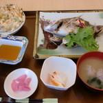 27163250 - 天然真鯛塩焼き定食2014.5