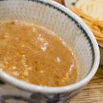 新橋 纏 - 濃厚鶏つけ麺(並)・メンマ【2014年5月】