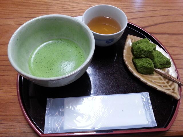 三星園 上林三入本店 - わらびもち抹茶セット 800円