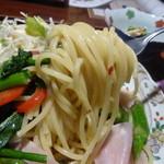 カフェ ギャラリー 美蔵 - 季節の野菜と生ハムのパスタ¥880