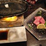 酒膳 松乃 - 佐賀牛の石焼きステーキ。