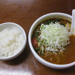 カレ吉 - 野菜カレーうどん+半ライス
