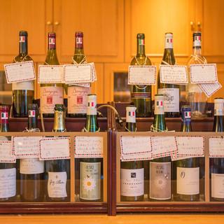 自然派ワイン豊富にとり揃えてます!グラスワインで色々そうぞ!