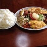 中華料理ぐら - ぐら定食   ご飯大盛り