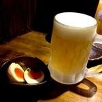 豚小家 - 生ビール 500円