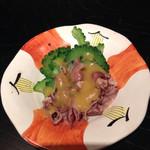 芋んちゅ - ホタルイカとゴーヤの酢味噌和え