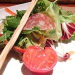 27174734 - カーサランチ 1450円 の有機野菜サラダ、フルーツトマト