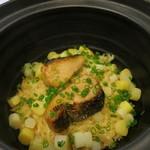 みや - 26年5月 鰆西京味噌とホワイトアスパラの炊込み