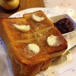珈琲 はなや - バタートースト、いちごジャム添え