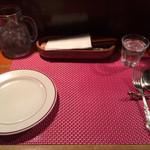 27192177 - 赤をアクセントにして洋食屋さんぽい。                       赤のラインが可愛いプレート♡