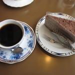 ミキコーヒー専門店 - ブレンドとモカケーキ
