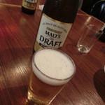 ダイニングラウンジ アメリカン - まずは瓶ビールで乾杯!