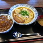 そば処 鐘庵  - かつ鍋定食