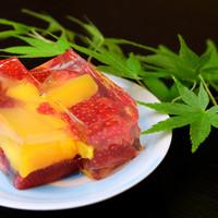 懐石料理かこむら - 【マンゴーとイチゴのゼリー寄せ】