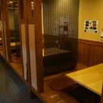 喜のかこい - 1階は掘り炬燵テーブルが5席