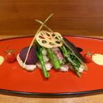 アユート  - 能登豚と季節野菜のサラダ(1200円)