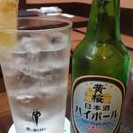 力士料理 琴ヶ梅 - 日本酒ハイボール:580円