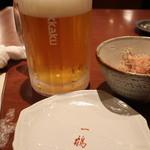 一鶴 - ビール大ジョッキ