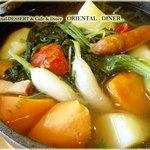 """オリエンタル ダイナー - 有機野菜""""たっぷり""""オーガニックポトフ"""