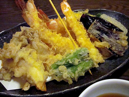 和処つたもり - 特上天ぷら盛り合わせ1000円(えび5、魚2、野菜6)