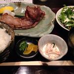 わびさび - マグロカマの塩焼き定食