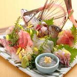 九兵衛 - 料理写真:旨みと食感が絶品『朝どれ地魚盛り合わせ』