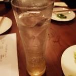夕食堂 - ドリンク写真:ゆずトニックだったかな(550円)。