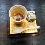 松竹 - 茶碗蒸し(スッポンの肉)フカヒレのせ