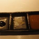 りんどう - ネギ味噌。フランスの塩。野菜おろしのタレ^^