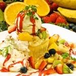 ジャンブルアップ - プーさんのハニーフルーツ厚焼きパンケーキ(平日ディナータイム・土曜ランチ&ディナー)