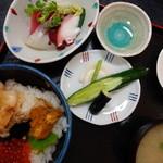 海鮮 まえ浜 - 三陸釜石お宝丼(\1550)焼き雲丹が美味しい。お薦めです。