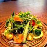 新鮮野菜たっぷりおれおのガーデンサラダ