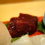 いち井 - くじら肉(これが非常に美味しかったです。)