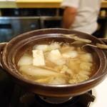 いち井 - 鴨鍋(ちゃんと目の前で作ってくれます。)