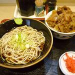 丸八そば - 料理写真:牛丼セット