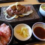石焼ステーキ 贅 - 石焼ステーキ&フォアグラランチ(西洋わさび)