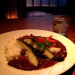 お箸BARおれお - 夏野菜のカレーライス(^^) 素揚げした夏野菜が美味しです。