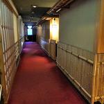 出羽屋 - 新館(?)2階の廊下