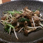ぞろ芽 - 牛スジの炒め物