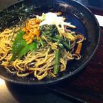 手打ちそば 菊園 - 山菜おろし蕎麦