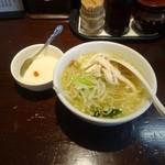 陳麻家 - 半々セット880円鶏そばと杏仁豆腐