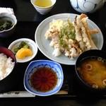たこ郎 - お昼の定食 てんぷら定食