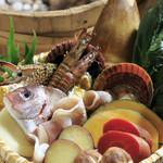 いけす割烹平家 - 料理写真:旬の魚介類を蒸していただく『海鮮地獄蒸し』