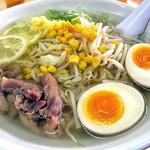 27261970 - 生姜ラーメン(大盛り・煮卵トッピング)(2014年5月)