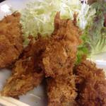 天ぷら 豊野 - カキフライ、アップ。