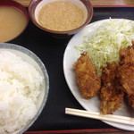 天ぷら 豊野 - カキフライ定食